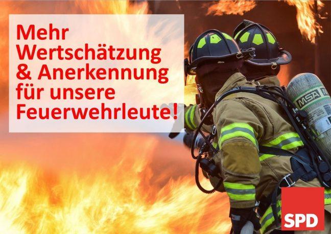 Feuerwehr Ehrenamt Wertschätzung SPD Oranienburg