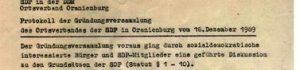 Historie SPD Oranienburg