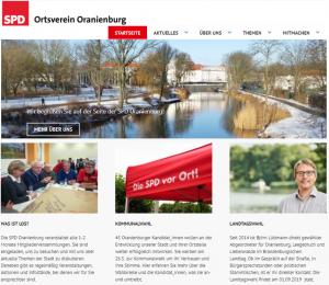 Homepage_Startseite SPD Oranienburg