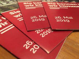 März 2019 Flyer Kommunalwahl 26. Mai SPD Oranienburg
