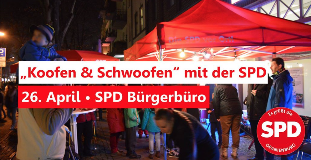 April 2019 Koofen und Schwoofen SPD Oranienburg