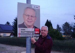 April 2019 Dirk Blettermann Wahlplakat SPD Oranienburg