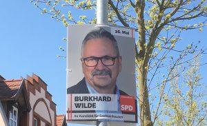 April 2019 Burkhard Wilde Wahlplakat SPD Oranienburg