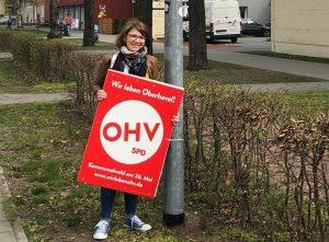 April 2019 Judith Brandt Wahlplakat OHV SPD Oranienburg