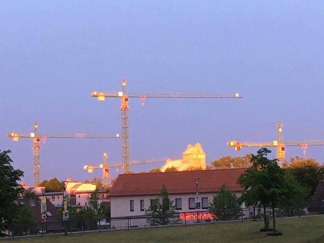 Mai 2019 Speicher Sonnenuntergang SPD Oranienburg
