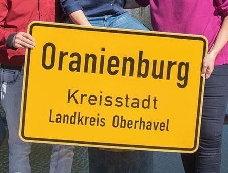 Mai 2019 Schild Oranienburg