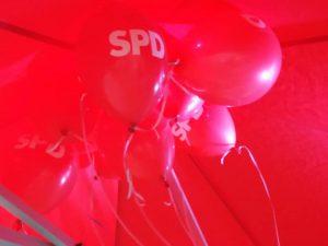 Juni 2019 SPD Luftballons SPD Oranienburg
