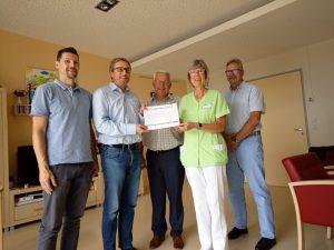 Juni 2019 Übergabe Spende an Hospiz SPD Oranienburg