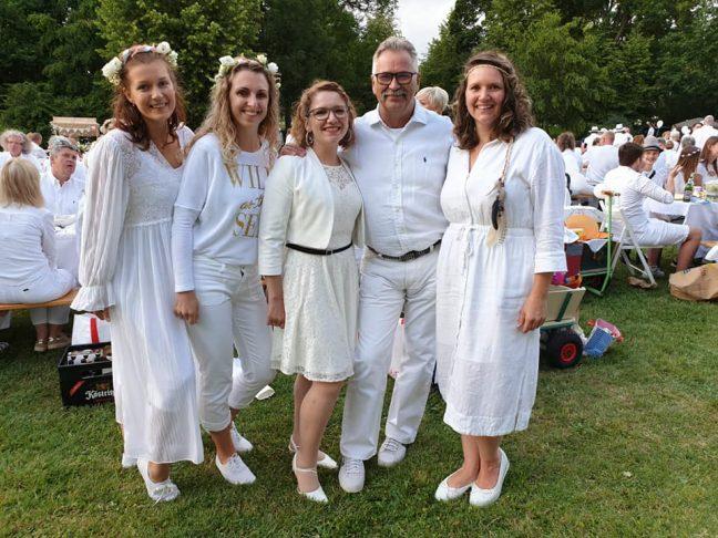 Juli 2019 Dinner in white SPD Oranienburg