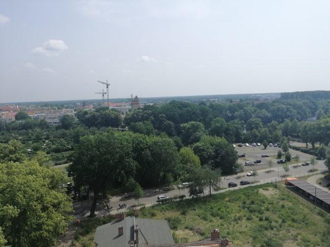 August 2019 Speicher und Parkplatz Alte Havel von oben SPD Oranienburg