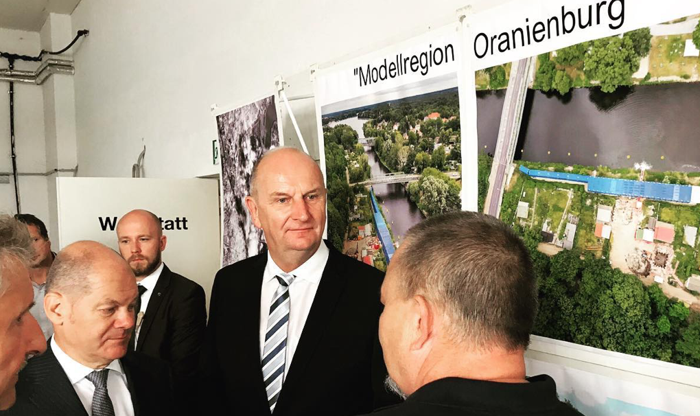 Juli 2019 Olaf Scholz Modellregion SPD Oranienburg