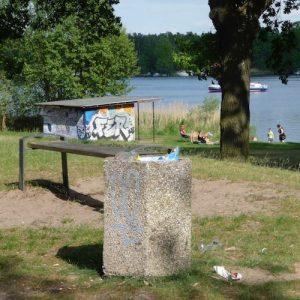 Augusts 2019 Lehnitzsee Badestelle Müll SPD Oranienburg