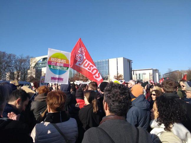 Februar 2020 Demo gegen rechts Berlin