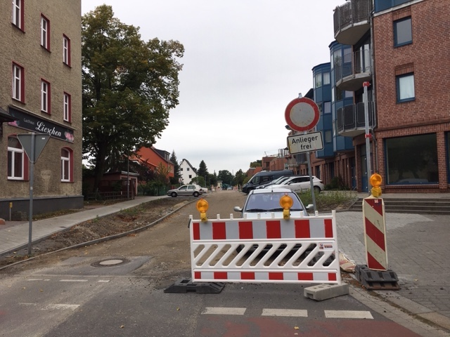 Januar 2020 Straßenausbau Speyrer Straße Oranienburg